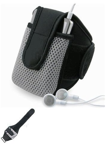 NEW BLACK NEOPRENE ARMBAND SPORT CASE FOR iPAQ TREO HTC