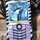 BLACKBERRY PEARL 8130 cell phone FACE zebra CLIP CASE ACCESSORY