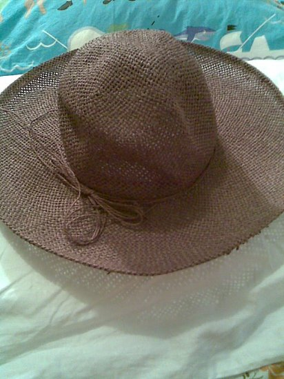 VINTAGE WOMEN'S ACCESSORY BROWN STRAW SUMMER GARDEN HAT STUNNING