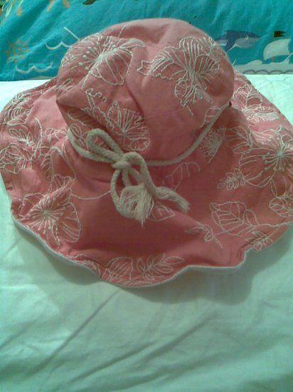SALMON PINK FLOWER WOMEN'S ACCESSORY BEACH SUMMER GARDEN HAT
