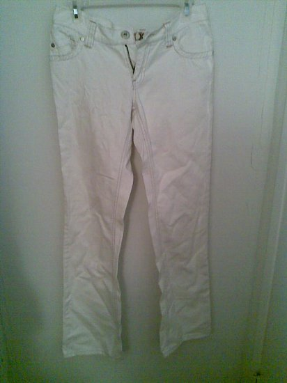 WHITE ROXY 5 JEANS JUNIOR'S SEXY WOMEN'S PANTS DENIM CLOTHES CLOTHING