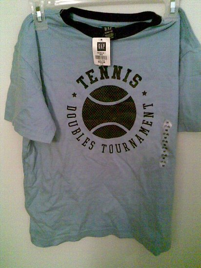 GIRLS' WOMEN'S DOUBLE TENNIS TOURNAMENT GAP SHIRT NEW M CLOTHING CLOTHES