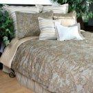 NAUTICA CREME MOCHA COTTON SATEEN BEDSKIRT BED SKIRT BEDDING BED SHEET FULL HOME DECOR BEDROOM