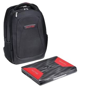 XPS M1730 game backpack case laptop bag HOME OFFICE ACCESSORY BLACK RED TRAVEL