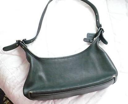 AUTHENTIC purse BLACK hobo COACH VINTAGE leather nickel BAG #081109B