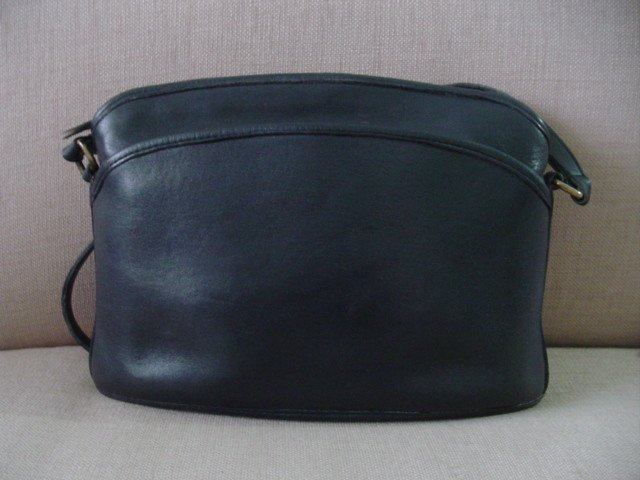AUTHENTIC purse vintage BLACK leather COACH SHOULDER BIG BAG GREAT FOR OFFICE #081409A