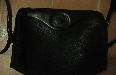 AUTHENTIC black leather DOONEY DOONEY&BOURKE SHOULDER BAG backpack #082309C