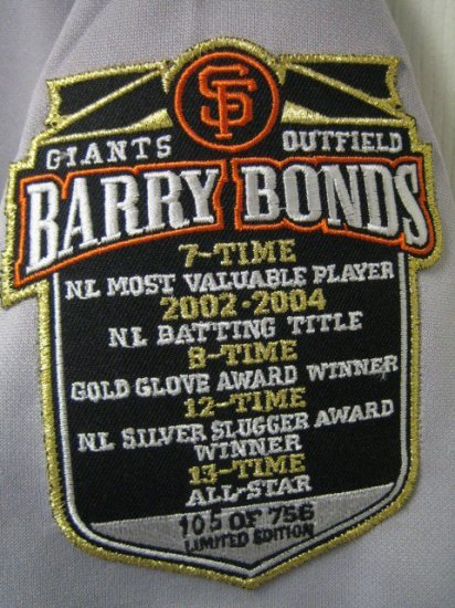 BARRY BONDS RARE JERSEY 25 SF GIANTS S small $110 retail baseball women's clothing sports