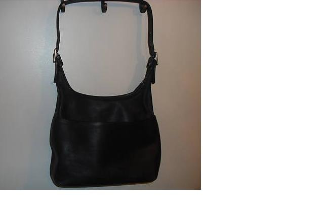 AUTHENTIC vintage JANICE BLACK leather COACH SHOULDER BAG purse #092709C