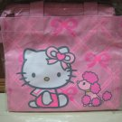 HELLO KITTY bow poodle dog ribbon girl LUNCH BAG TOTE PINK WOMEN&#39;S KIDS ACCESSORY PICNIC PURSE BAG