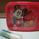 RED MICKEY MOUSE ALARM CLOCK NIGHT LIGHT GIFT KIDS ROOM HOME DECOR COLLECTIBLE