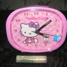 pink round sitting hello kitty ALARM CLOCK NIGHT LIGHT GIFT KIDS ROOM HOME DECOR COLLECTIBLE