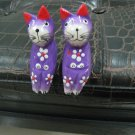 PURPLE SET LOT SOFA CAT JEWELRY RING HOLDER GIFT COLLECTIBLE HOME DECOR FIGURINE
