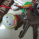 chicken HELLO KITTY CHARM PHONE ACCESSORY IPOD key CHAIN NECKLACE knitting crochet stitch markers