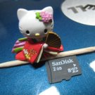 red japanese flower kimono HELLO KITTY CHARM decorative figurine collectible gift doll