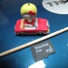 apple car red HELLO KITTY CHARM decorative figurine collectible gift cartoon kids figure doll