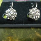 WOMEN'S silver RHINESTONE like diamond FASHION GRAPE EARRING rings ACCESSORY
