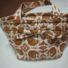 FASHION FABRIC HANDBAG BAG PURSE PATTERN BATIK PAISLEY PRINT ART WOMEN'S BASKET STYLE BOW