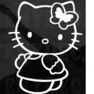 HELLO KITTY butterfly car decal sticker window house accessory gift fun family home decor