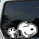 snoopy says hi peanuts car decal sticker window house accessory gift fun family home decor