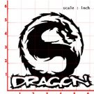DRAGON IN CIRCLE car decal sticker window SKATEBOARD house accessory gift fun family home decor