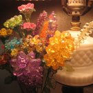B plastic crystal honeycomb flower decorative collectible home garden for your vase