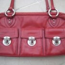 authentic MARC JACOBS RED LEATHER PURSE HANDBAG BAG WOMEN'S ACCESSORY CLOTHING pockets made in ITALY