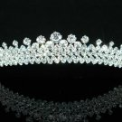 C  QUEEN WEDDING BRIDAL Clear Crystal Beads Gold Plated Headband TIARA HEADBAND women's accessory