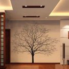 black - Decorative Wall Paper Art Sticker decal - Tree interior home design