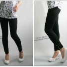 Bamboo Cotton Adjustable Waist Pregnant Women's clothing maternity mid-length legging black