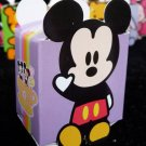 M - Cute purple mickey mouse Party Favor Box ~ Birthday Wedding Candy home decor gift