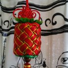 LARGE PINEAPPLE RED CHINESE NEW YEAR GOOD LUCK DECOR gold HOME FAMILY decorative collectible