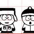 SOUTHPARK GANG decal sticker window house accessory gift fun family home decor