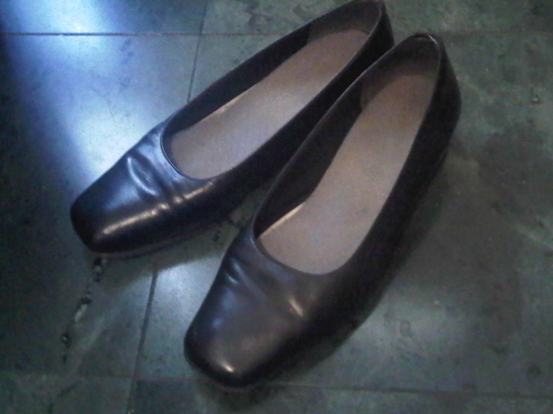 BLACK PUMP DRESS SHOES WOMEN'S 8 LEATHER CLOTHES ACCESSORY