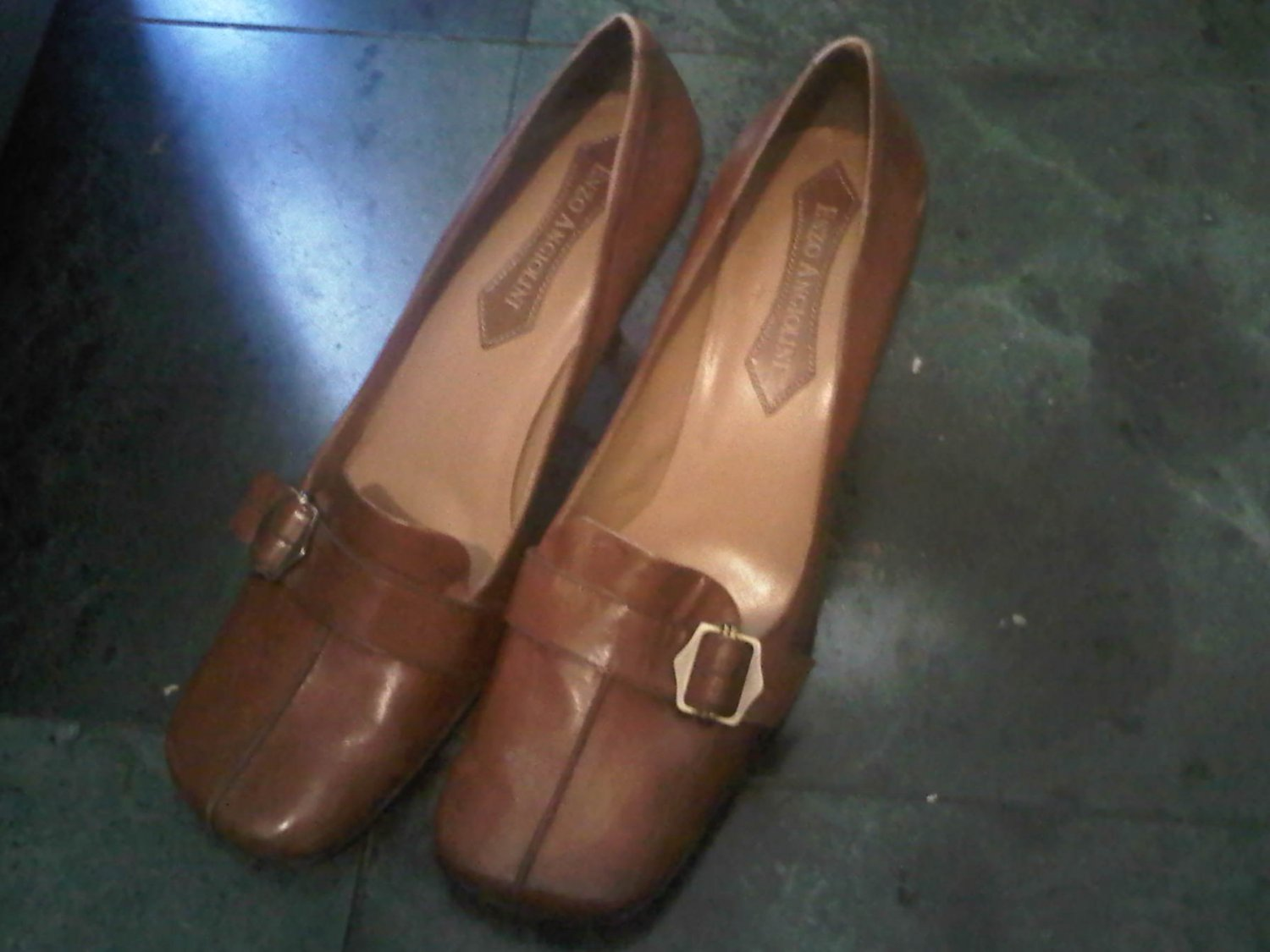 ENZO ANGIOLINI BROWN HEELS DRESS SHOES WOMEN'S 8.5 LEATHER CLOTHES ACCESSORY