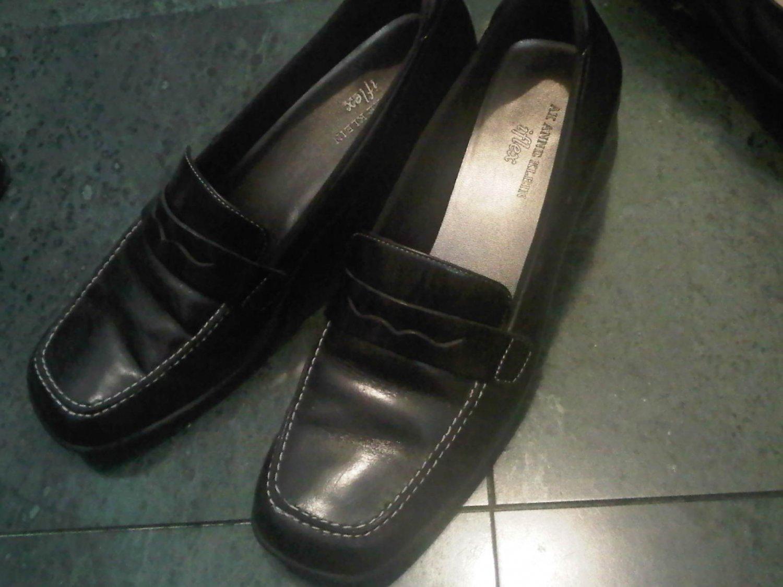 ANNE KLEIN IFLEX BLACK OFFICE DRESS SHOES WOMEN'S 8.5 LEATHER CLOTHES ACCESSORY