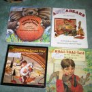 A lot set of 3 book books children's illustrated home activity
