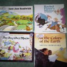 C lot set of 4 book books children's illustrated home activity