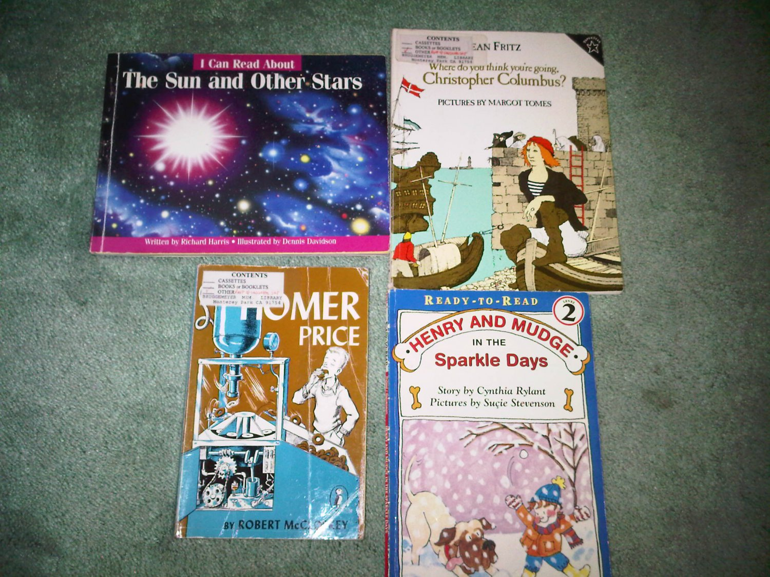E lot set of 4 book books children's illustrated home activity
