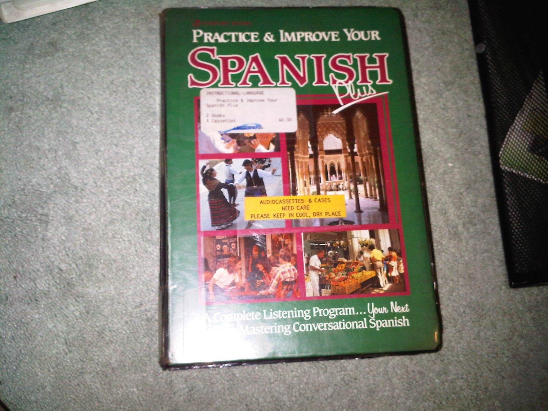 GREEN casette audio SPANISH beginner book books home family lesson education