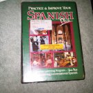 GREEN casette audio SPANISH beginner book books home family lesson education
