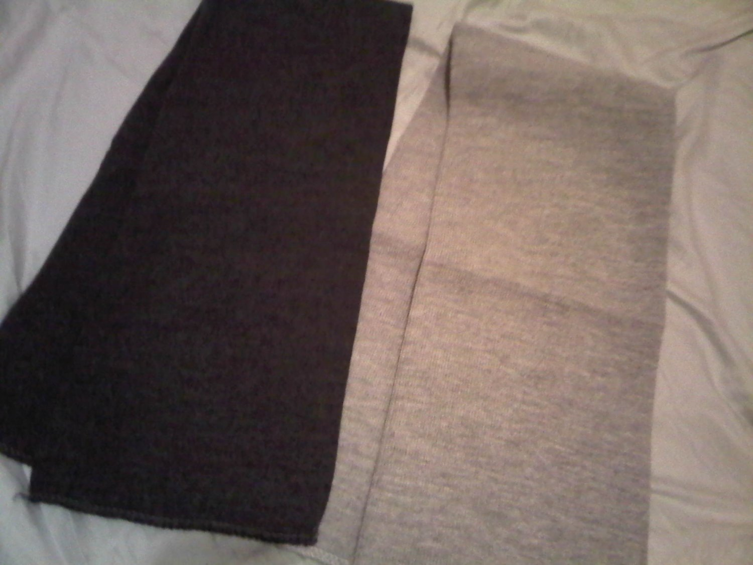 THICK GRAY OR DARK GRAY COLLEGE SCARF COTTON WOMEN'S MEN'S ACCESSORY CLOTHING CLOTHES