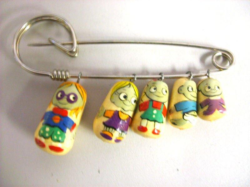 rugrats Russian Nesting Doll Pin Pins Gift Teacher decorative collectible figurine Matryoshka