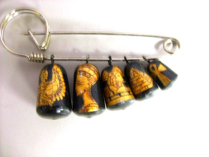 egyptian Russian Nesting Doll Pin Pins Gift Teacher decorative collectible figurine Matryoshka