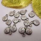 lot 20 Tibetan silver Face Sun Loose Beads charm hobby home craft family necklace jewelry