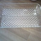 GLASS KITCHEN HOME CANDY PARTY TRAY CRYSTAL LIKE BEADS HOLDER