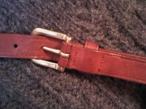 #22612 red COACH DOONEY&BOURKE REPLACEMENT LEATHER STRAP WITH SNAP HOOKS purse bag women's accessory