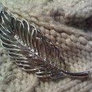 transparent leaf pin brooch silver VINTAGE JEWELRY WOMEN'S FASHION CLOTHING ACCESSORY