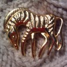 zebra horse pin brooch VINTAGE JEWELRY WOMEN'S FASHION CLOTHING ACCESSORY