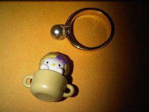 POTATO HEAD SOUP CUP HELLO KITTY CHARM decorative figurine collectible gift cartoon kids figure doll